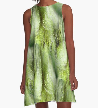 Cattail Fluff Abstract Pattern A-Line Dress