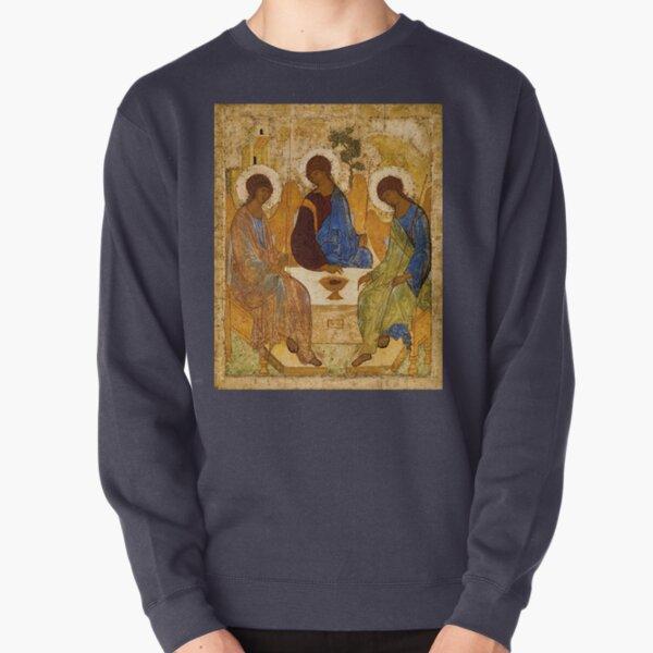 Holy Trinity Painting Rublev Trinity Print Icon Christian Religious Wall art Pullover Sweatshirt