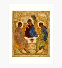 Holy Trinity Icon Christian Religious Wall art Art Print