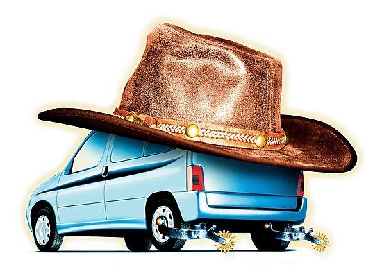 Cowboy car by Piccaya