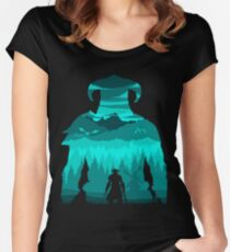 Dragonborn Silhouette Women's Fitted Scoop T-Shirt