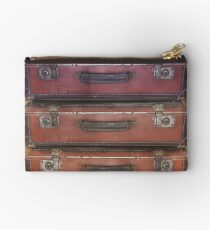 Old worn travel suitcases Studio Pouch
