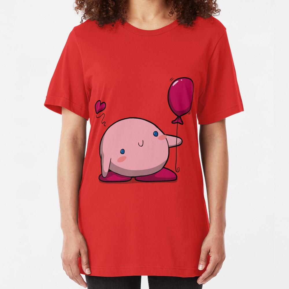 Little Pink Balloon Slim Fit T-Shirt