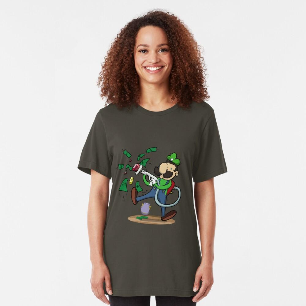 Green Ghost Hunter Slim Fit T-Shirt