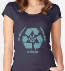 Reduce, Recycle, Adopt Women's Fitted Scoop T-Shirt