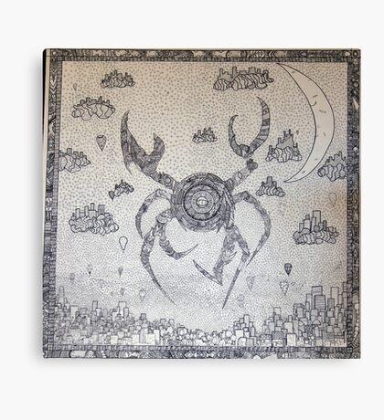 Cyber Crab Canvas Print