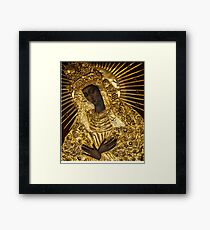Black Madonna, Our Lady of Grace, Our Lady of the Gate of Dawn, Mother of Mercy Framed Print