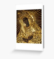 Black Madonna, Our Lady of Grace, Our Lady of the Gate of Dawn, Mother of Mercy Greeting Card