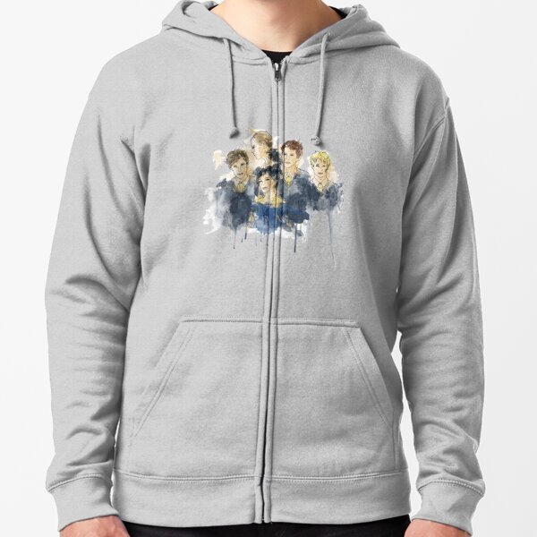 Cabeswater Crew (watercolors - Light) Zipped Hoodie
