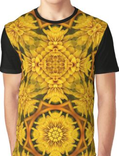 Yellow Flower Petals Abstract Pattern Graphic T-Shirt