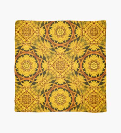 Yellow Flower Petals Abstract Pattern Scarf