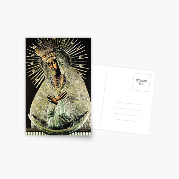 Black Madonna, Our Lady of Grace, Our Lady of Gate of Dawn, Virgin Mary Postcard