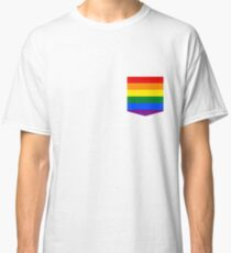 lgbt+ pride flag pocket Classic T-Shirt