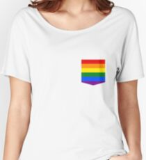 lgbt+ pride flag pocket Women's Relaxed Fit T-Shirt