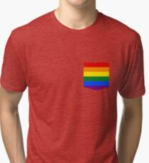 lgbt+ pride flag pocket Tri-blend T-Shirt