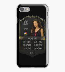 WESTWORLD - TV SHOW - MAEVE STATS - FIFA FUT iPhone Case/Skin