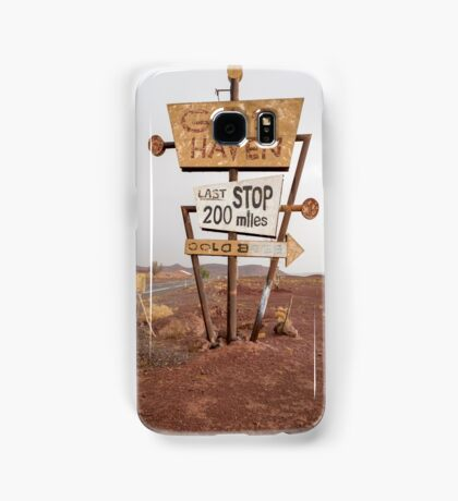 Tall vintage gas sign standing in the desert Coque et skin Samsung Galaxy