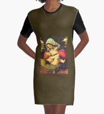 Madonna and Child, Virgin Mary Painting by Solario Graphic T-Shirt Dress