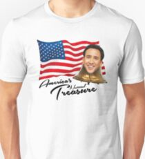 America's National Treasure - Black Text T-Shirt