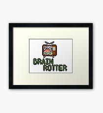 TV Brains! Framed Print