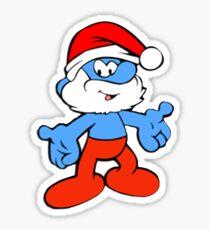 The cutest christmas smurf! Sticker