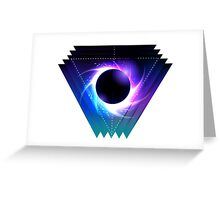 Black hole with starry vortex Greeting Card
