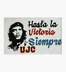 Communist propaganda with Che Guevara Photographic Print