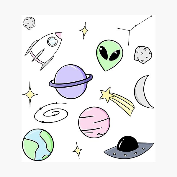Space Aesthetic Photographic Print