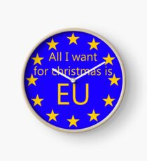 All I want for Christmas is EU Clock
