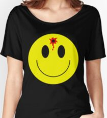 Bullet hole smile face shot - funny t shirt Women's Relaxed Fit T-Shirt