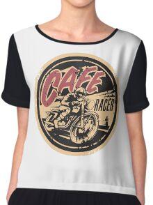 The Official Cafe Racer TV Logo Chiffon Top