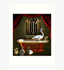 Imogene Never Could Remember to Draw the Drapes When Bathing... Art Print