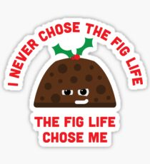 Christmas Character Building - Fig life Sticker