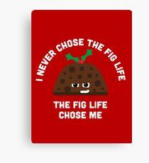 Christmas Character Building - Fig life Canvas Print