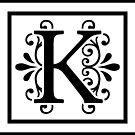 Letter K Monogram by imaginarystory