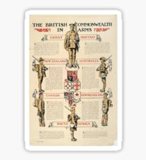 British WWI Propaganda - The Commonwealth at Arms (1917) Sticker