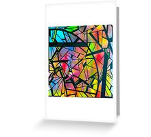 color abstraction two Greeting Card