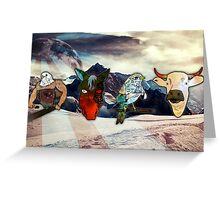 Space Animals Greeting Card
