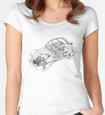 citroen 2cv | Cars Women's Fitted Scoop T-Shirt