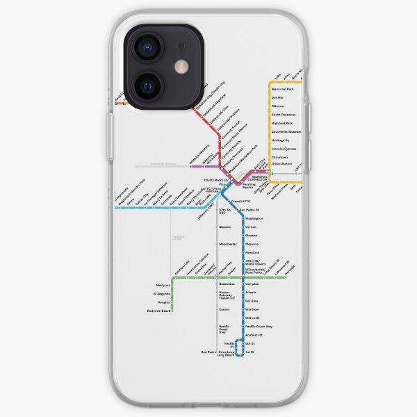 Los Angeles Metro Rail Map iPhone Soft Case