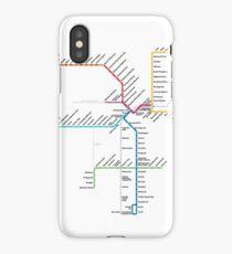 Los Angeles Metro Rail Map iPhone Case/Skin