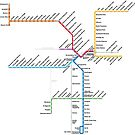 Los Angeles Metro Rail Map by Rich Anderson