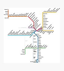 Los Angeles Metro Rail Map Photographic Print