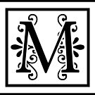 Letter M Monogram by imaginarystory