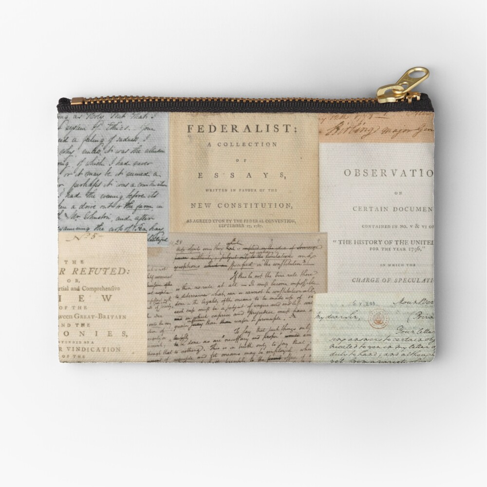 Alexander Hamilton Papers Collection Zipper Pouch