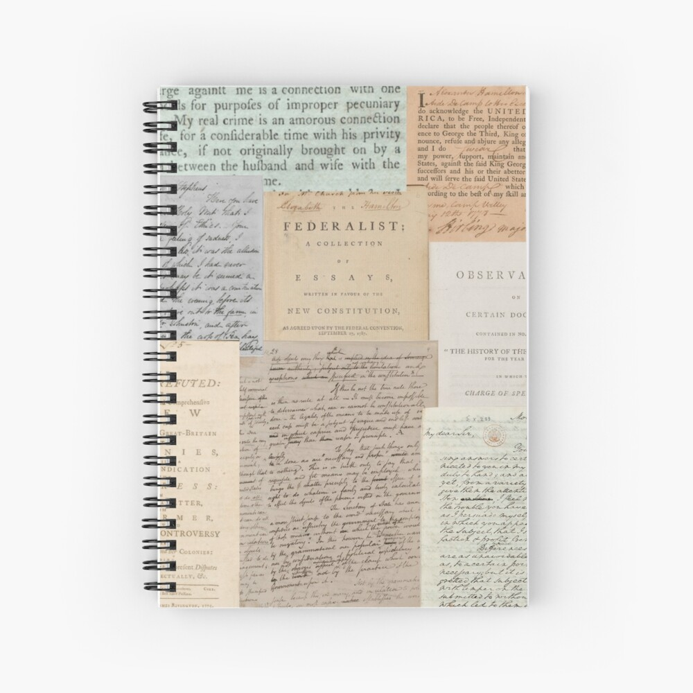 Alexander Hamilton Papers Collection Spiral Notebook