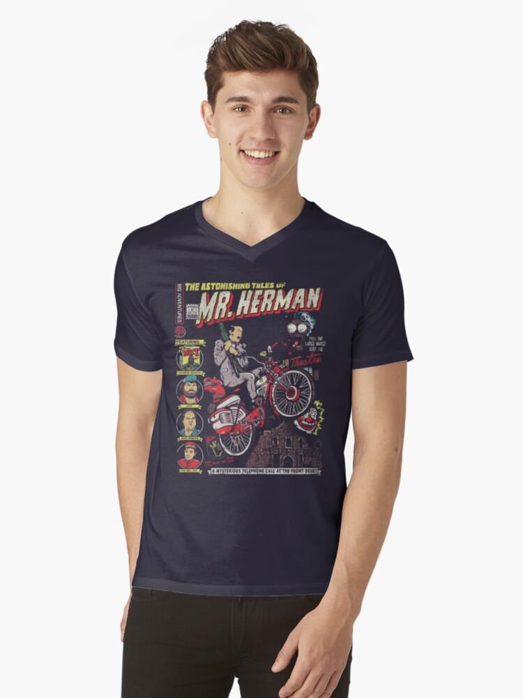 Astonishing Adventures Mens V-Neck T-Shirt Front