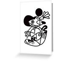 ABSTRACT MAUS Greeting Card