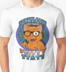 Funky Cats and their Feisty Stats Unisex T-Shirt