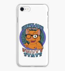 Funky Cats and their Feisty Stats iPhone Case/Skin